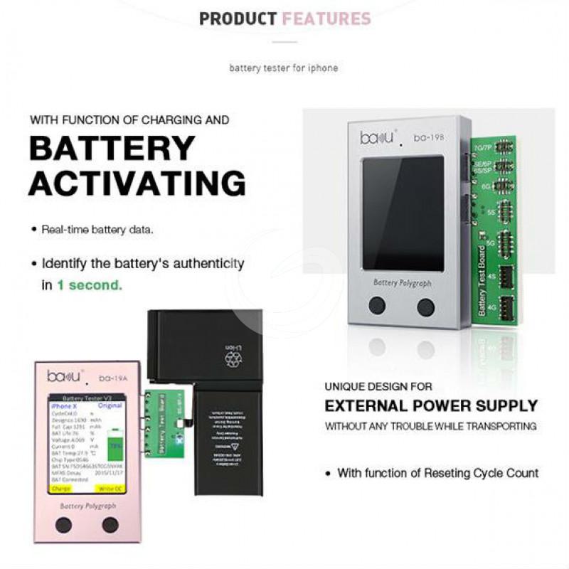 BAKU ba-19 Series Apple iPhone Battery Tester, Charger