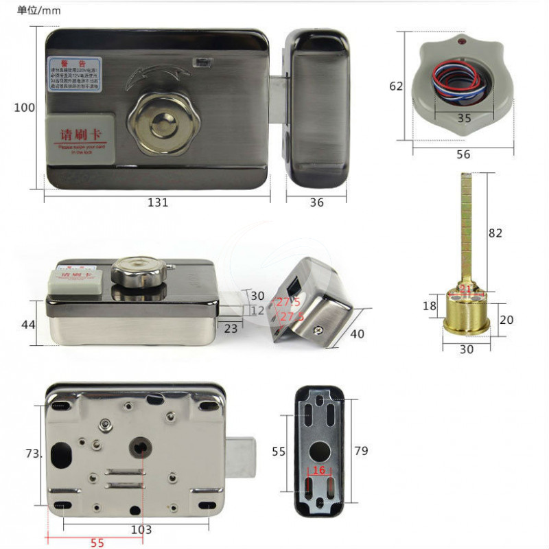 Electronic Rfid Door Gate Lock Smart Electric Strike Lock