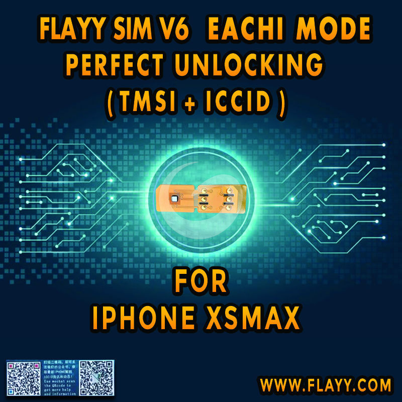 FLAYY SIM V6 Iphone XS MAX EACHI MODE PERFECT UNLOCKING