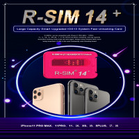 R-Sim 14+ large capacity smart upgraded IOS13 system quick sim unlock card